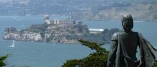 Kolumbus schaut vom Telegraph Hill nach Alcatraz