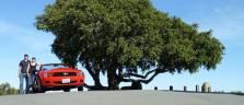 Auf Probefahrt mit unserem Ford Mustang auf dem Mount Diablo
