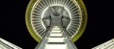 Die Space Needle das Wahrzeichen der Weltausstellung 1962 in Seattle