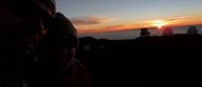 Der Sonnenuntergang und wir auf dem Mauna Kea