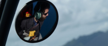 Mit Pilot Grant über der Insel Kauai