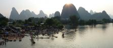 Abendstimmung über dem Yulong-Fluss