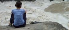 An den gewaltigen Stromschnellen der Tiger Leaping Gorge
