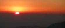 Sonnenuntergang in Gosainkunda auf 4300 Meter über Meer