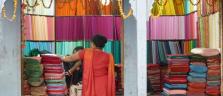 Ein Stoffladen irgendwo im Herzen von Kathmandu