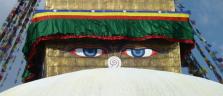 Die Augen des Buddhas an der grossen Stupa von Bodhnath