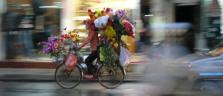 Flower Power auf den Strassen von Hanoi
