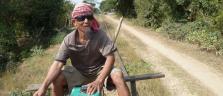Der Bamboo-Train-Lokiführer in Battambang